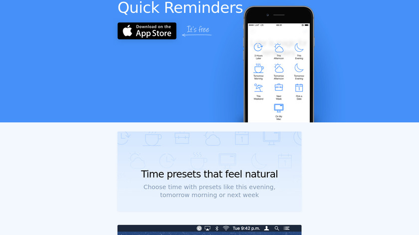 Later Reminders Landing Page