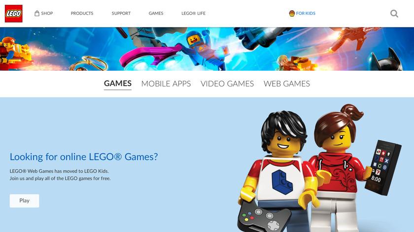 Lego Universe Landing Page
