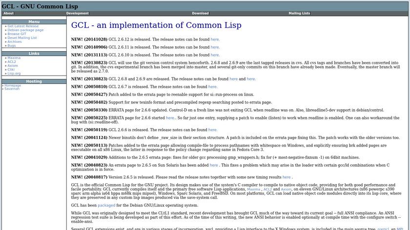 GNU Common Lisp Landing Page