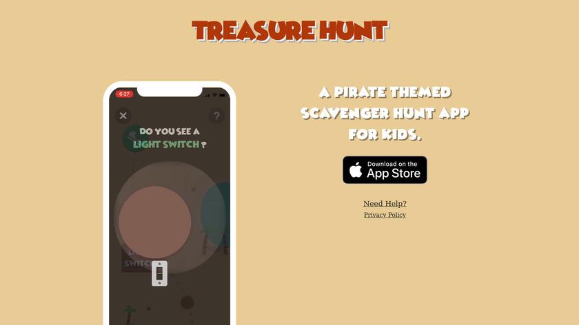 Treasure Hunt Landing Page