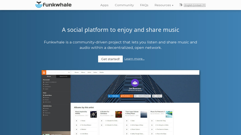 Funkwhale Landing Page