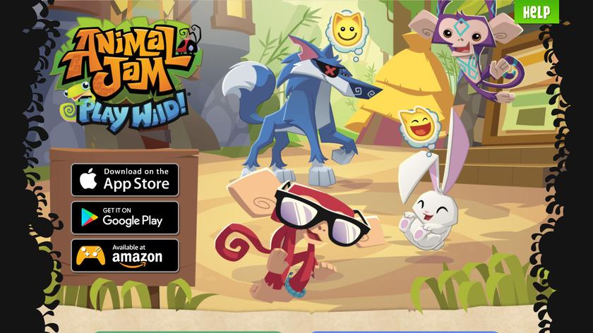 Animal Jam Play Wild Landing Page