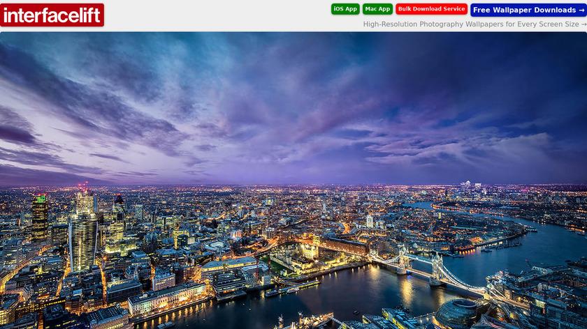 InterfaceLIFT Landing Page