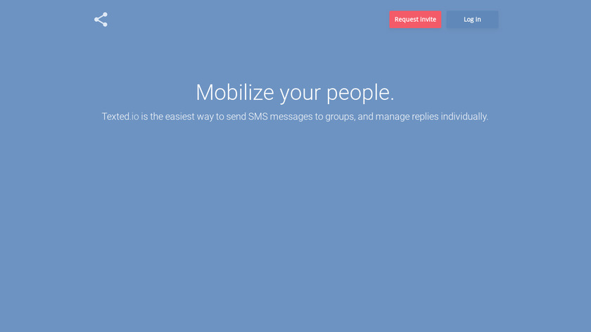 Texted.io Landing Page