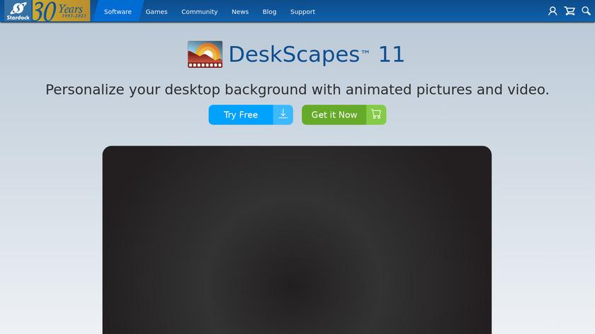 DeskScapes Landing Page