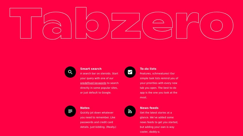 Tabzero Landing Page
