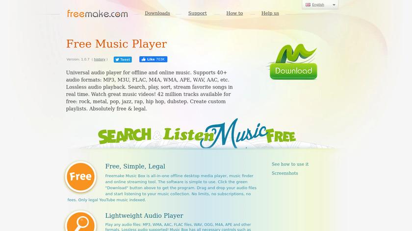 Freemake Music Box Landing Page