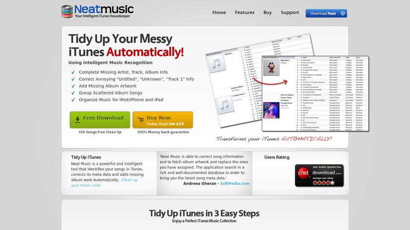 Neat Music Landing Page