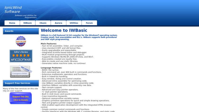 IonicWind Basic Landing Page