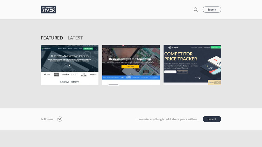 E-Commerce Stack Landing Page