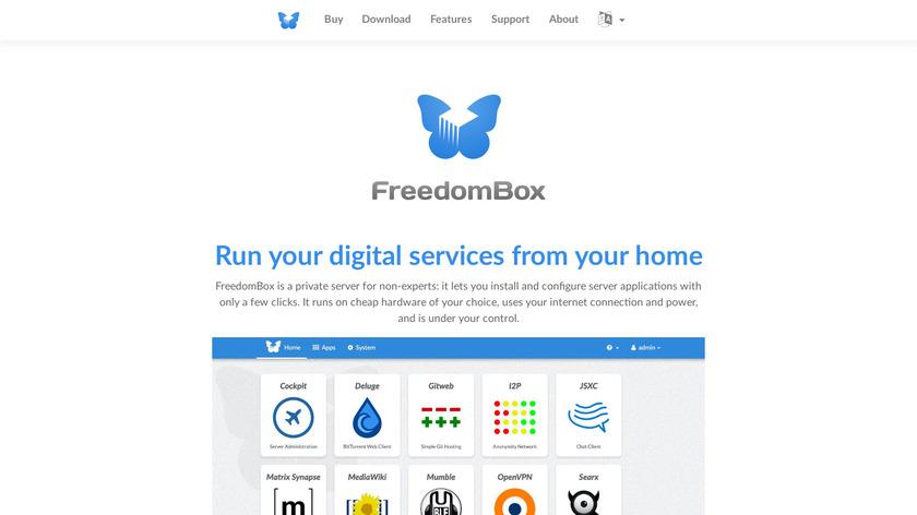 FreedomBox Landing Page
