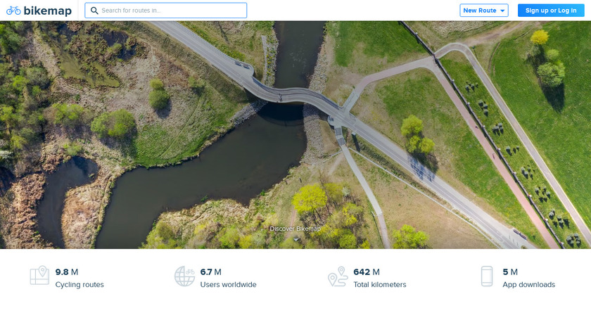 Bikemap Landing Page