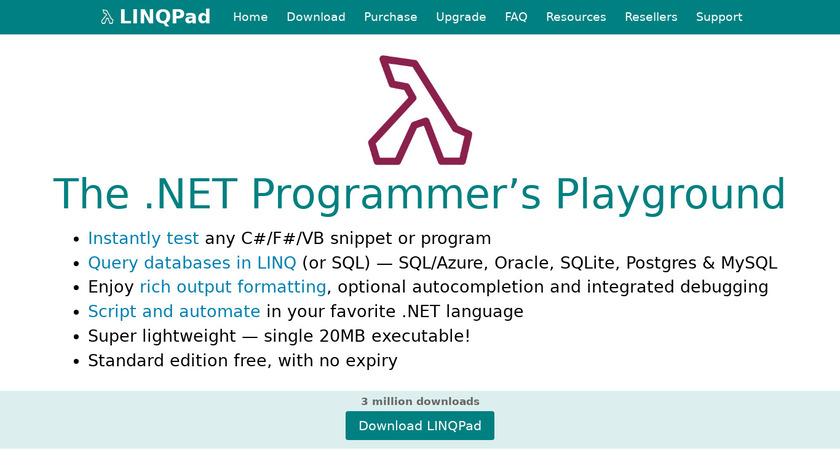 LINQPad Landing Page