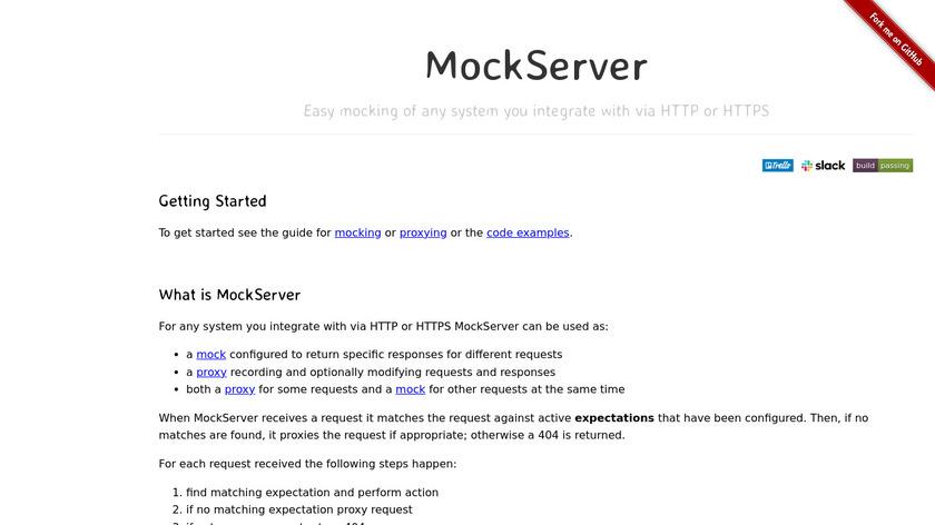 MockServer Landing Page