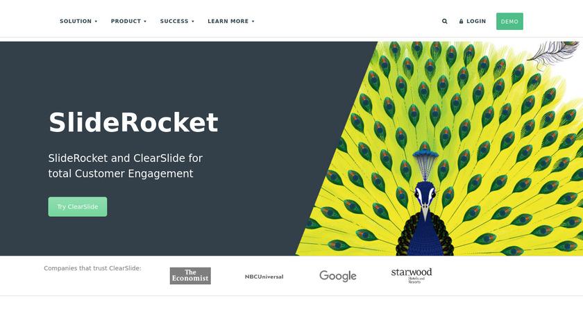 SlideRocket Landing Page