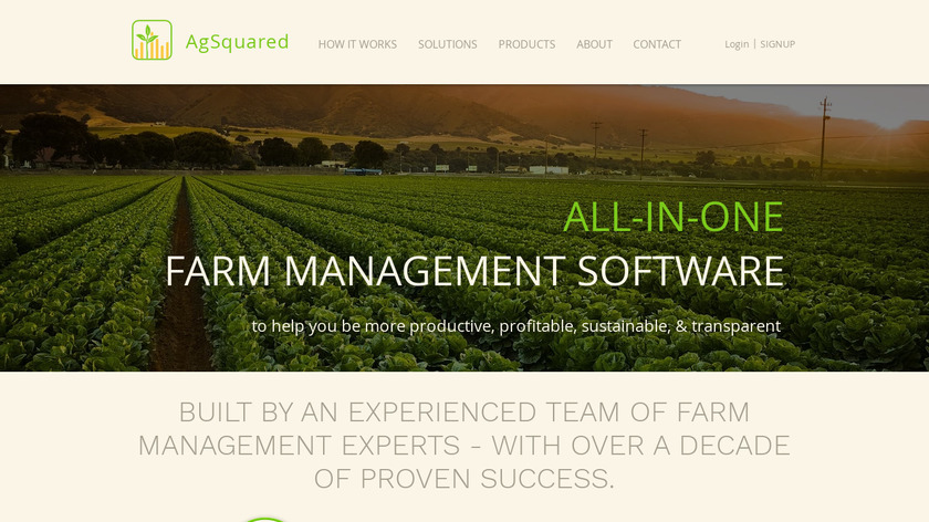 AgSquared Landing Page