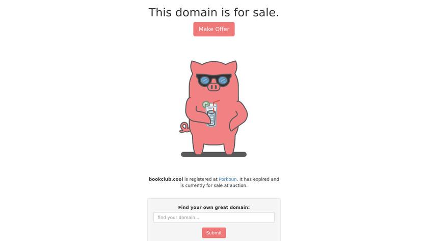 bookclub Landing Page