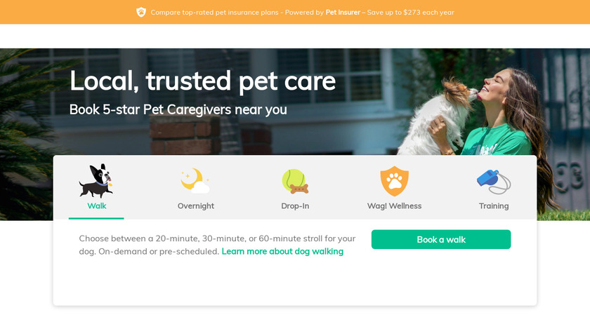 Wag! Landing Page