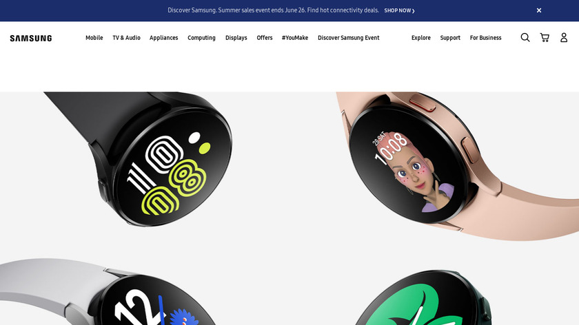 Galaxy Watch Active Landing Page