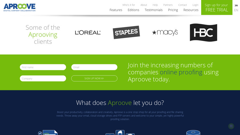 Aproove Landing Page