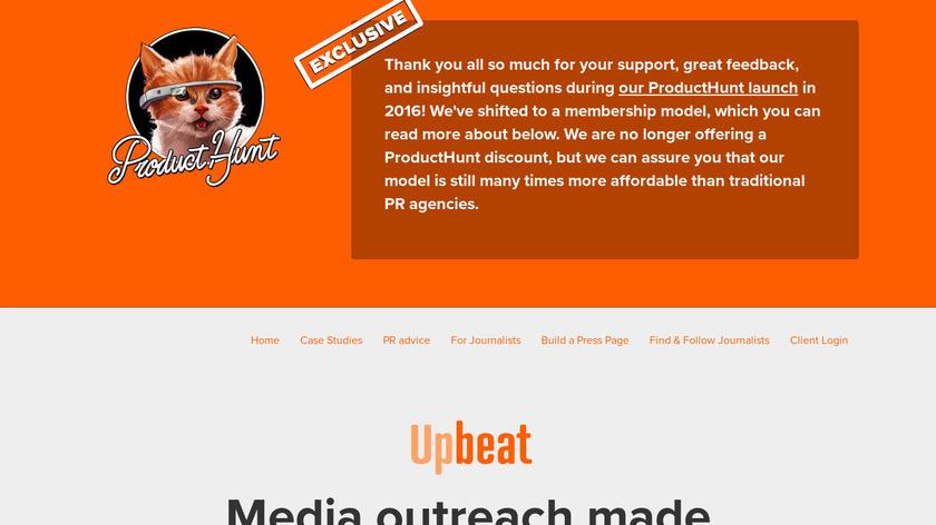 Upbeat Landing Page