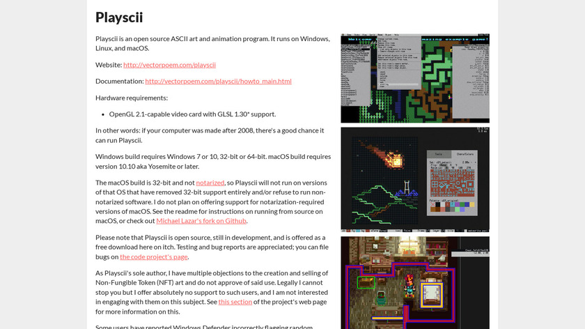 Playscii Landing Page