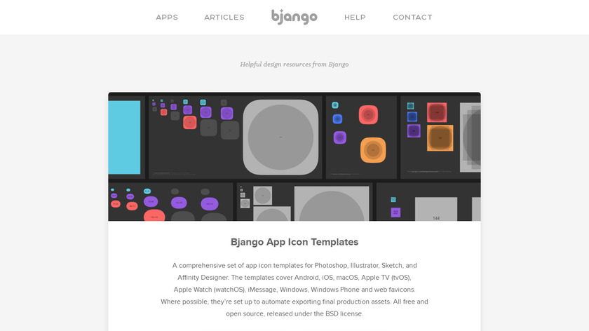 Bjango App Icon Templates Landing Page