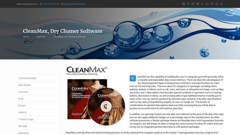 CleanMax Landing Page