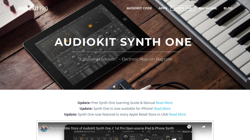 AudioKit Synth One Landing Page