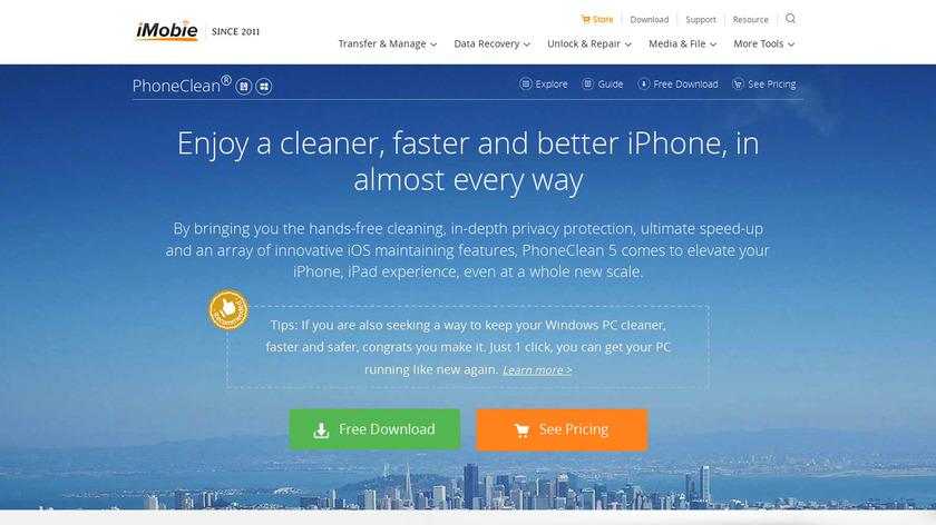 PhoneClean Landing Page