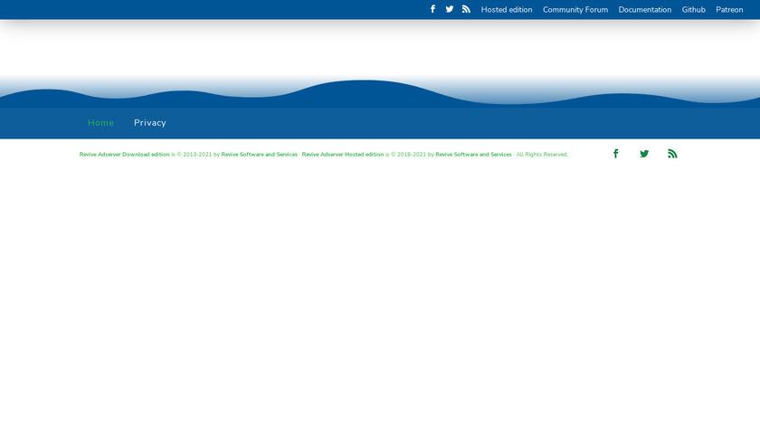 Revive Adserver Landing Page
