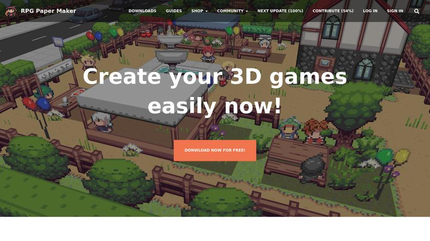 RPG Paper Maker Landing Page