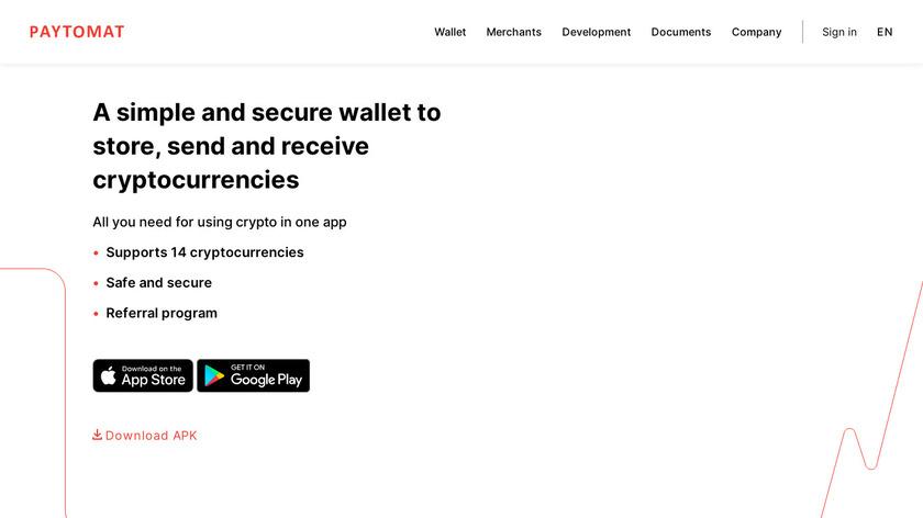 Paytomat Wallet Landing Page