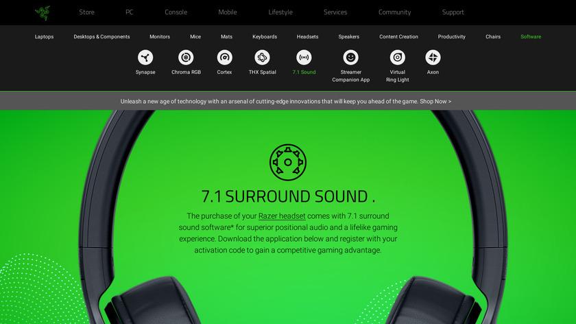 Razer Surround Landing Page