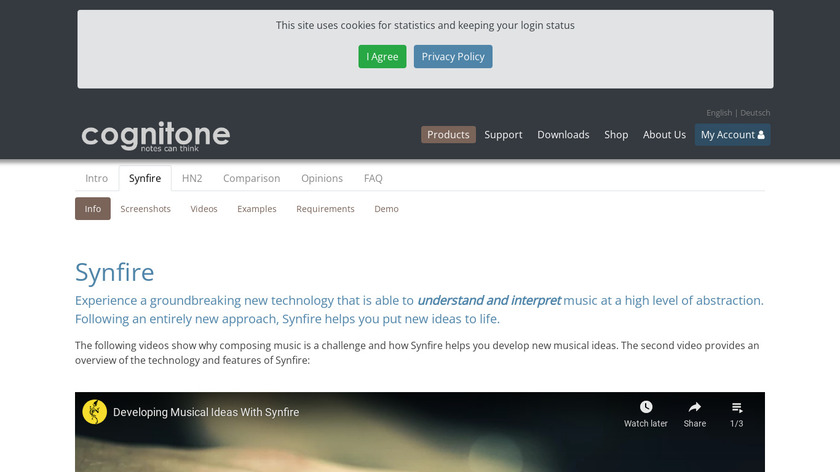 Synfire Landing Page