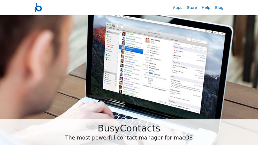 BusyContacts Landing Page