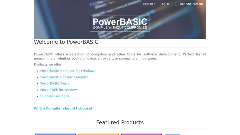 PowerBASIC Landing Page