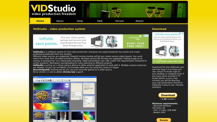 VidStudio Landing Page