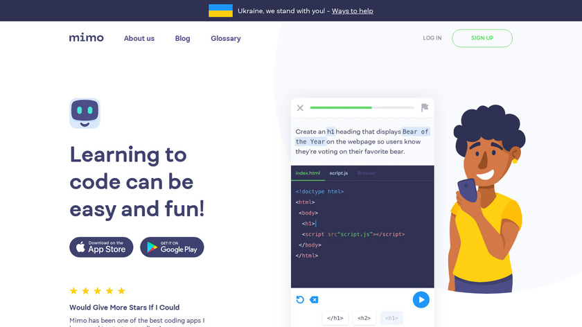 Mimo Landing Page