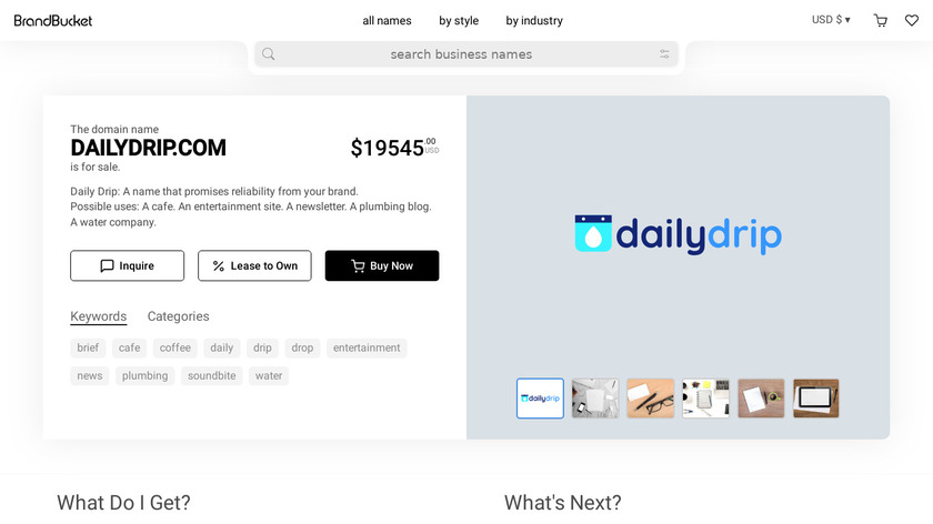 DailyDrip Landing Page