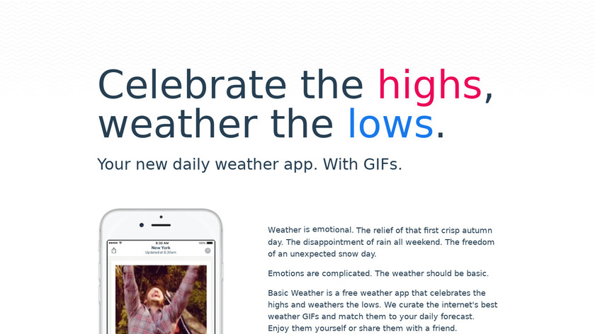 Basic Weather Landing Page