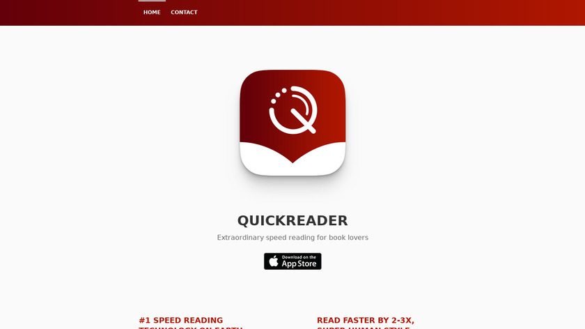 Quickreader Landing Page
