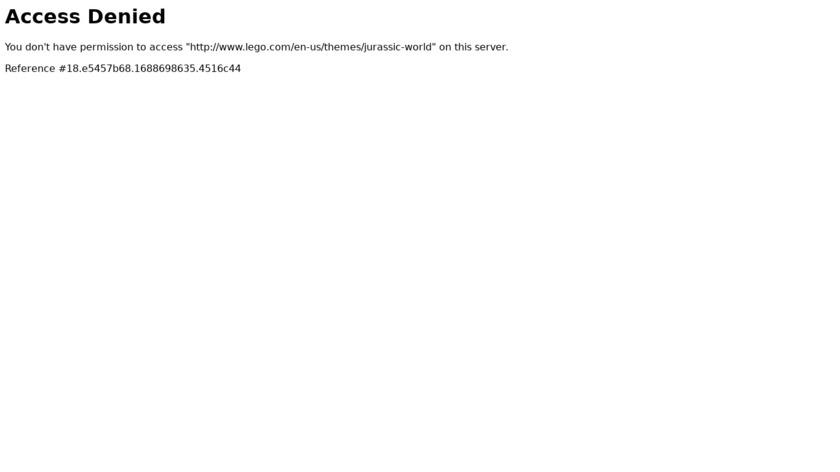 LEGO Jurassic World Landing Page