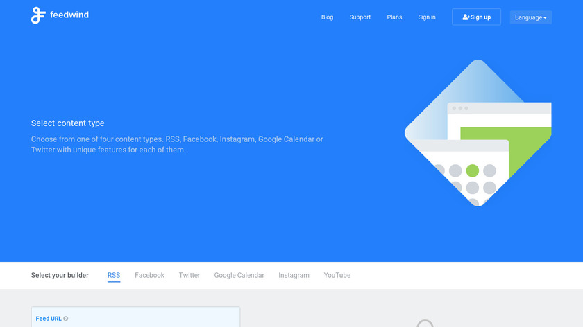 FeedWind Landing Page
