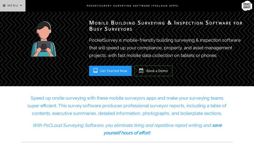 PocketSurvey Building Assets Database Landing Page
