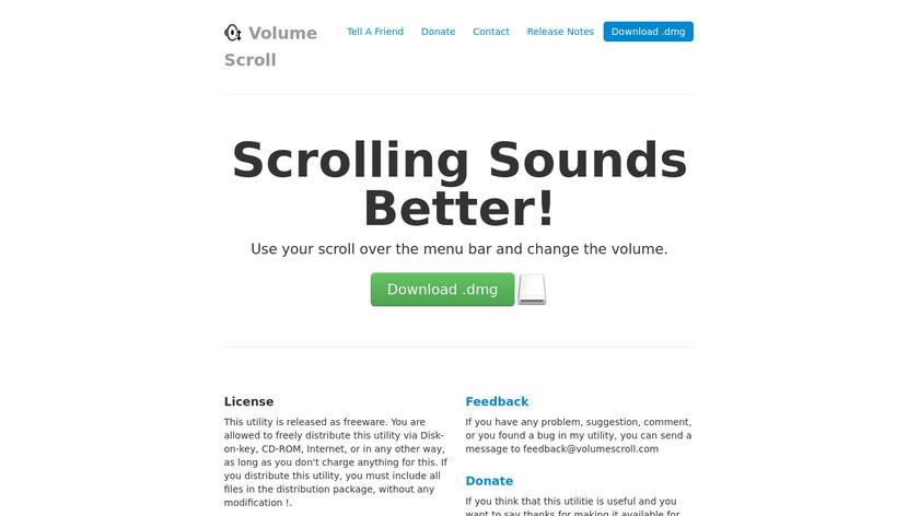 Volume Scroll Landing Page