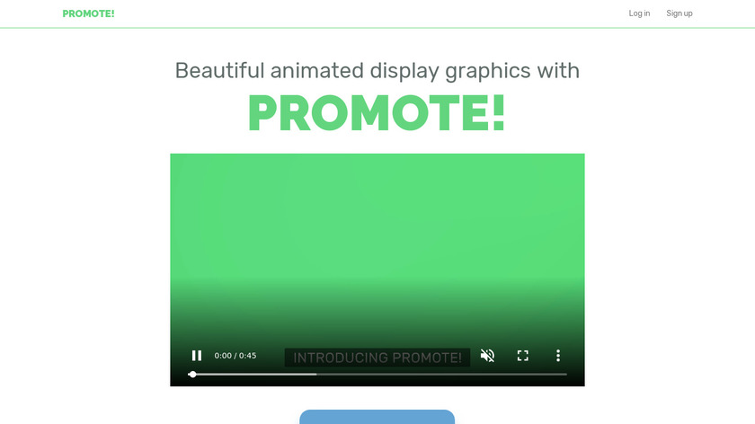 Promote! Landing Page