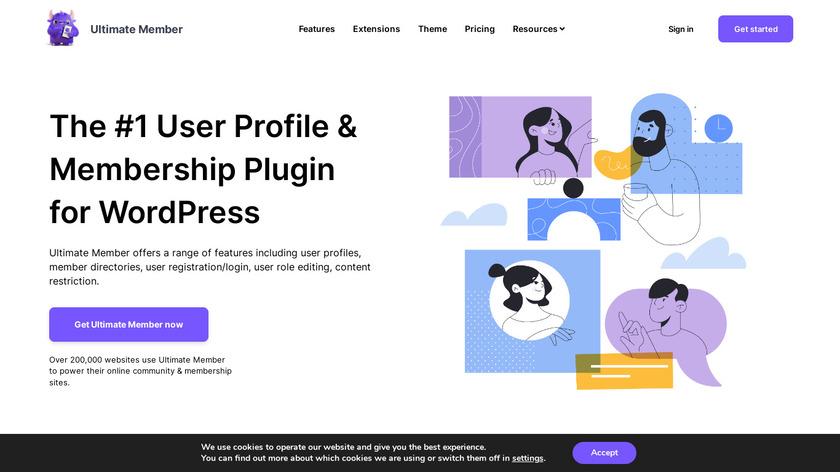 Ultimate Member Landing Page