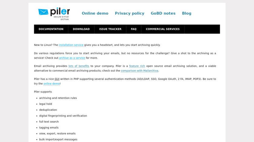 Piler Landing Page