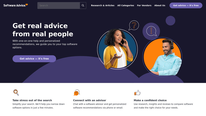 Software Advice Landing Page